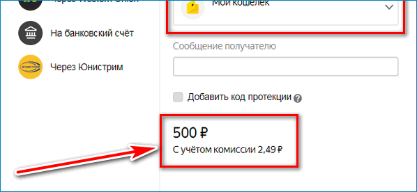 Какая комиссия Yandex