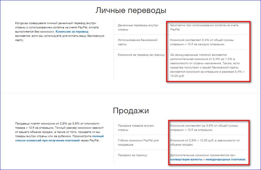 Комиссия за перевод денег