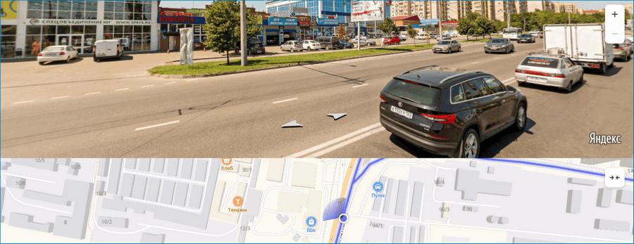 Панорамный режим в Яндекс картах