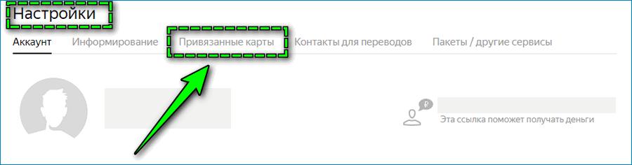 Привязанные карты в Яндекс Деньгах