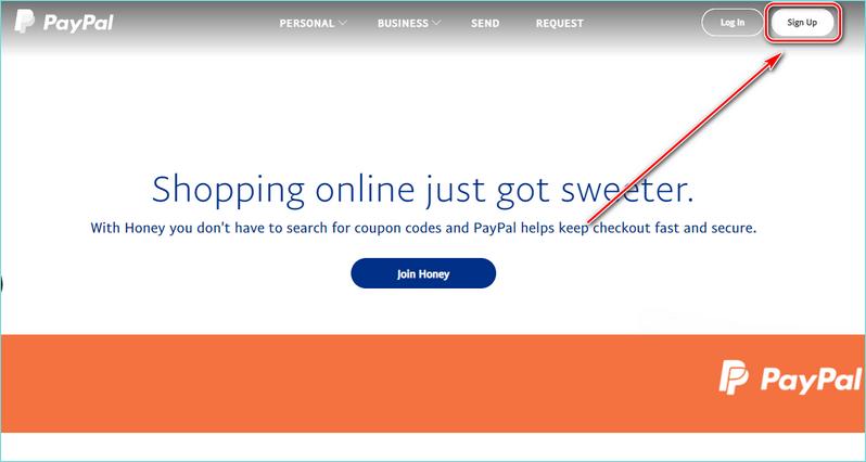 Регистрация на американском PayPal