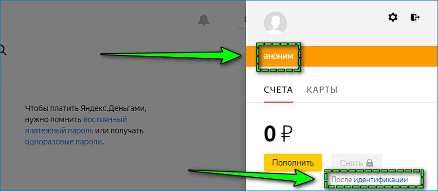 Статус кошелька Яндекс