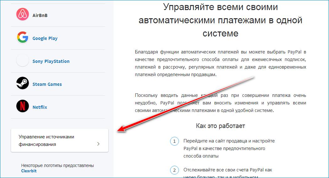Управление автоматическими платежами в PayPal