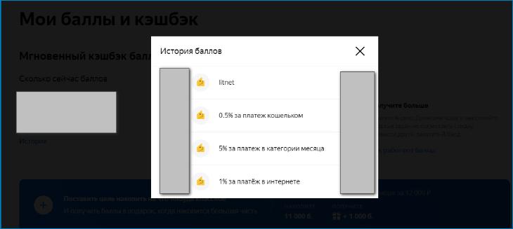 Начисление и списание бонусов Яндекс Деньги