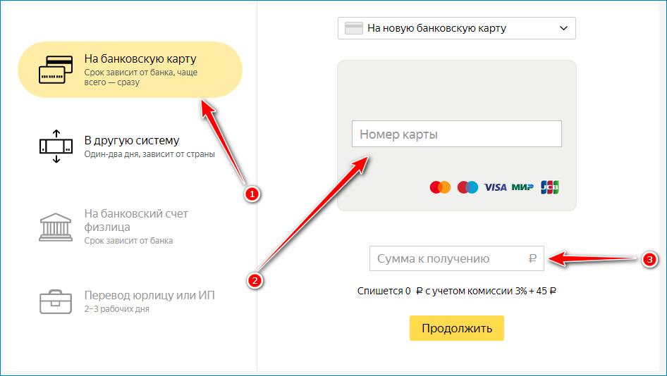 Перевод на новую карту Сбербанка с Яндекс Деньги