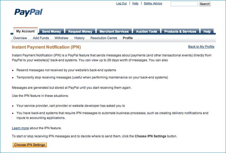 Выбор IPN настроек