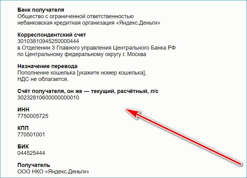 Данные Yandex