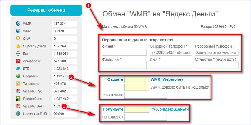 Обменять WMR на яндекс деньги