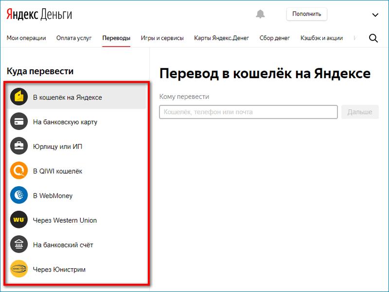 Переводы Yandex